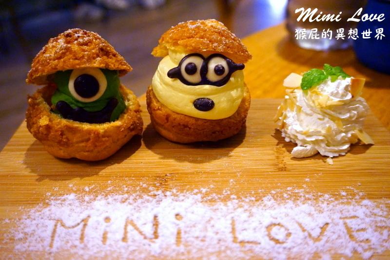 【新竹美食】新竹餐廳推薦Mini Love Cafe微幸福!大眼仔、小小兵泡芙甜點無敵可愛!近新竹火車站! @猴屁的異想世界