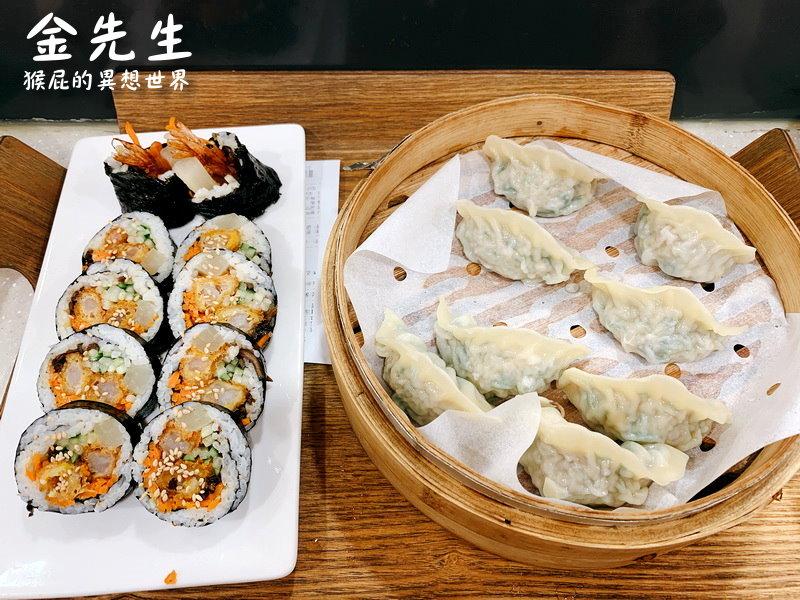【2019韓國自由行】樂天超市美食-正直的金先生바르다김선생(樂天超市首爾店)!超人回來了三胞胎也愛吃的餃子店!餃子跟飯捲都很好吃!