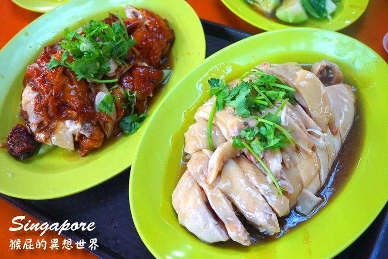 【新加坡自由行】新加坡牛車水必吃美食-天天海南雞飯+金華魚片米粉+甘蔗檸檬汁(麥士威熟食中心) @猴屁的異想世界