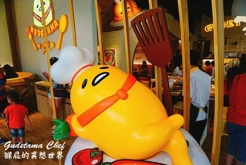 【台中美食】蛋黃哥五星主廚餐廳台中旗艦店!餐點可愛!有兩層樓高蛋黃哥旋轉溜滑梯!台中主題餐廳、台中親子餐廳、台中包廂餐廳!(內有台中蛋黃哥餐廳菜單) @猴屁的異想世界