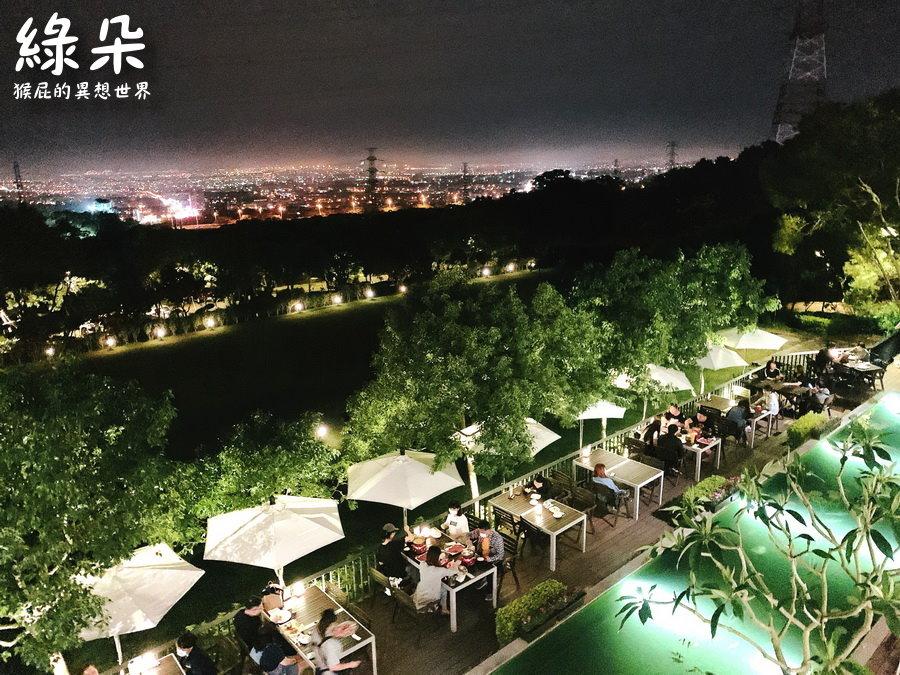 【台中美食】台中夜景餐廳綠朵休閒農場!台中絕美景觀餐廳,百萬夜景越夜越美麗,意外的餐點很好吃!有停車場!