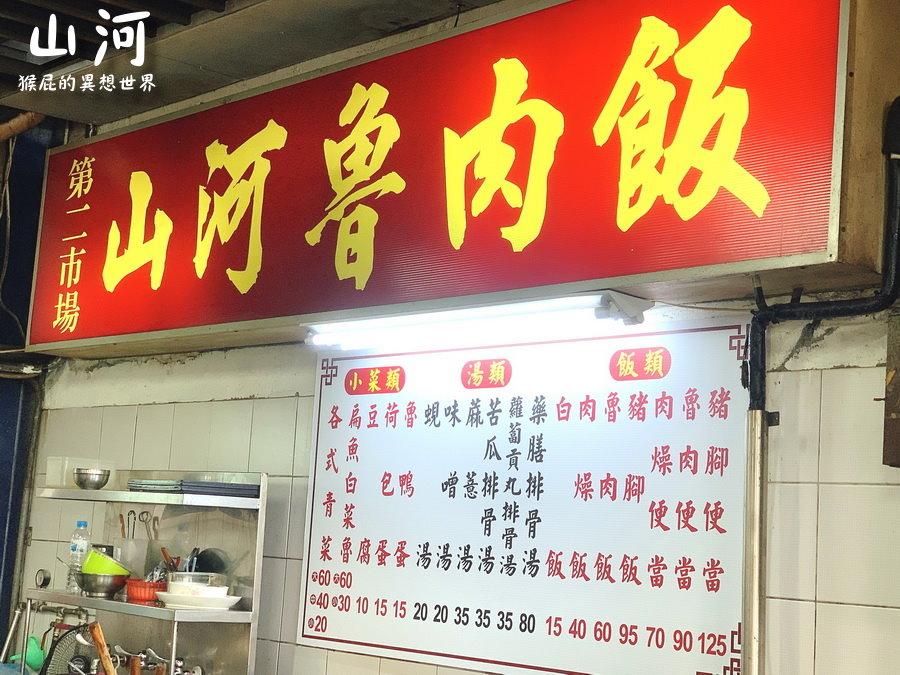 【台中美食】山河魯肉飯!台中第二市場美食!魯肉飯、肉燥飯、控肉飯、腿庫飯傻傻分不清楚! @猴屁的異想世界