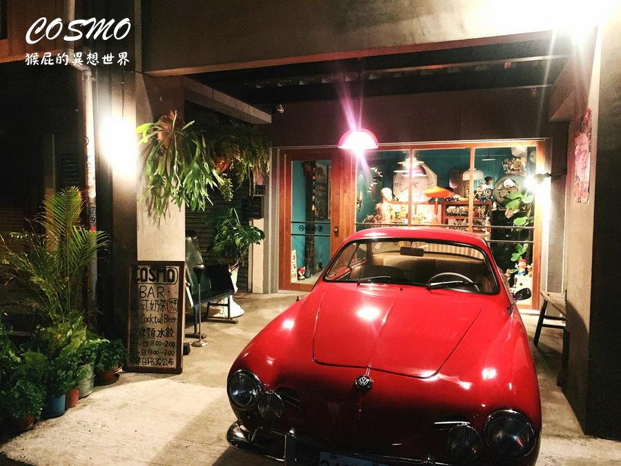 【台中美食】台中神秘的ET外星人主題咖啡廳COSMO飲所! 裡面有超大隻ET好酷,主打泰式奶茶也很奇妙!平日營業到凌晨兩點,假日營業到凌晨三點!(台中宵夜、台中茶店、台中咖啡廳) @猴屁的異想世界