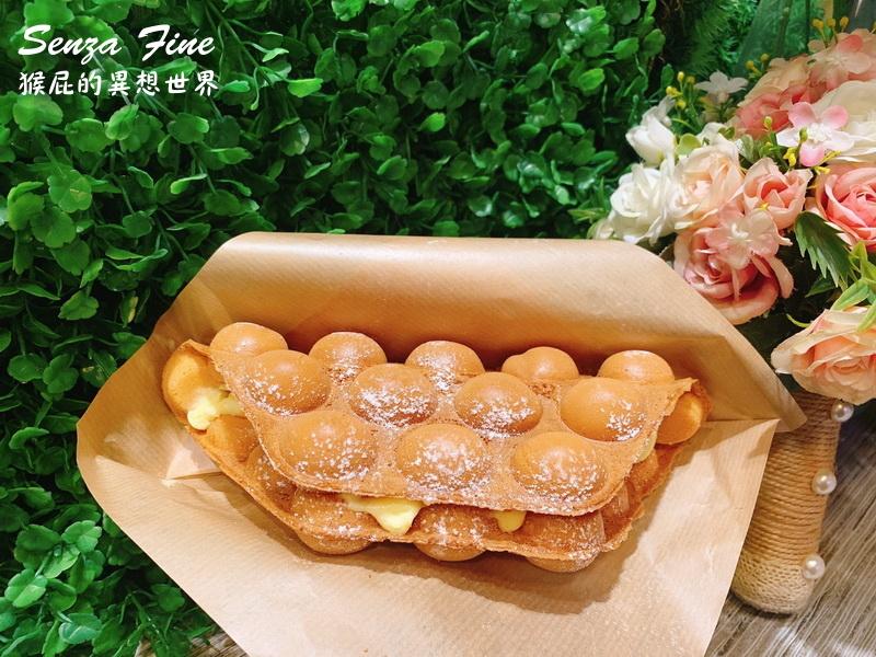 【台中美食】逢甲夜市美食Senza Fine夏妃手作義式冰淇淋!香港雞蛋仔超好吃!第二件半價!(IG打卡美食、台中美食) @猴屁的異想世界